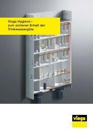 Prospekt Viega Hygiene+ zum sicheren Erhalt der Trinkwassergüte.