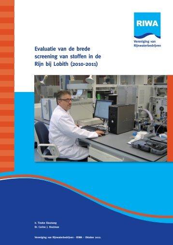 Evaluatie van de brede screening van stoffen in de Rijn bij ... - Riwa
