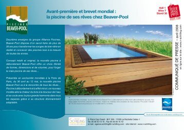 la piscine de ses rêves chez Beaver-Pool