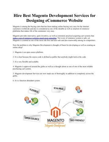 Hire Best Magento Development Services for Designing eCommerce Website