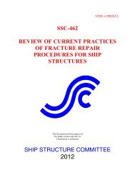 ssc-462 review of current practices of fracture repair procedures for ...