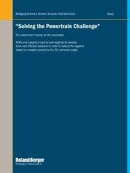 Solving the powertrain challenge