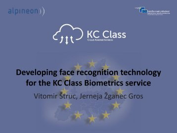 Developing face recognition - Cloud Assisted Services