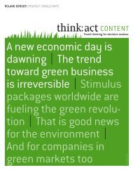 A new economic day is dawning | The trend toward green business ...
