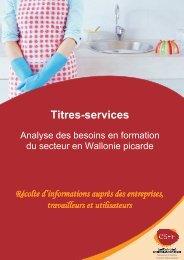 Titres-services : Analyse des besoins en formation du ... - CSEF
