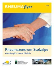 Rheumatologie Innere Medizin - LKH Stolzalpe