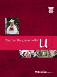 Discover the power within U - Ursuline Academy