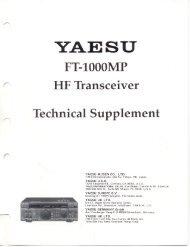 Download FT1000MP Technical Supplement - VA3CR