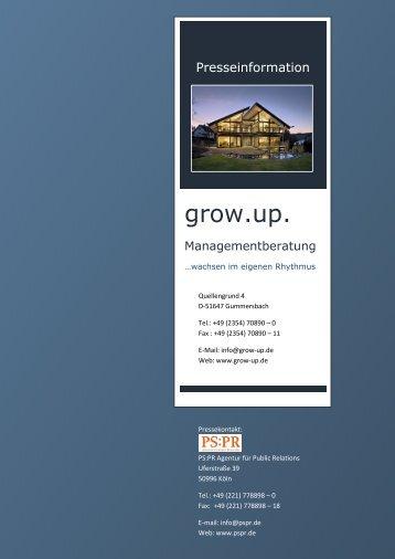 grow.up. - Macht, Neugier, Team…