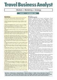 Nov 2009 - Travel Business Analyst