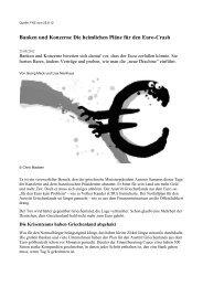 Die heimlichen Pläne für den Euro-Crash - Globale Allmende