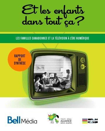 Télécharger le rapport synthèse de l'étude. - Alliance médias jeunesse