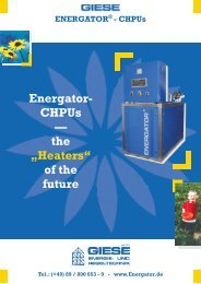 """Energator- CHPUs — the """"Heaters"""" of the future - Giese Energie"""