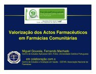 Valorização dos Actos Farmacêuticos em Farmácias Comunitárias
