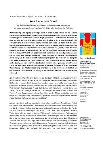 Aus Liebe zum Sport - Covadonga Verlag