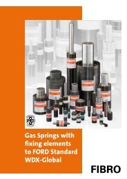 Gas Springs with fixing elements, to FORD Standard ... - FIBRO GmbH