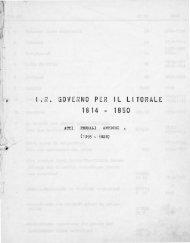Governo del Litorale in Trieste - Atti feudali antichi (1395 - 1828)