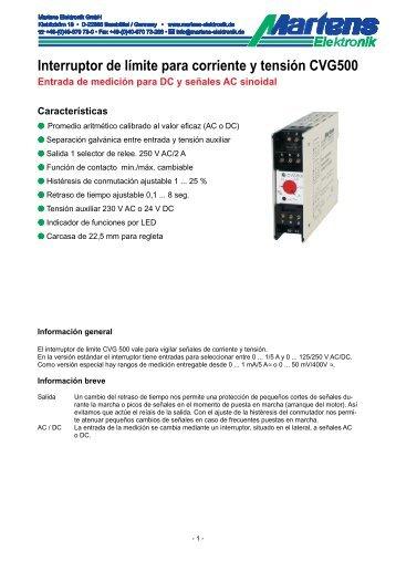 CVG500-00- Prospekt - Martens Elektronik GmbH