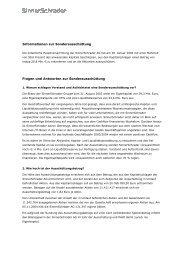 Informationen zur Sonderausschüttung Fragen und Antworten zur ...