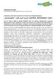 """""""klicksafe"""" ruft auf zum SAFER INTERNET DAY - Medienkompetenz ..."""