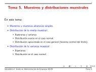 Tema 5. Muestreo y distribuciones muestrales