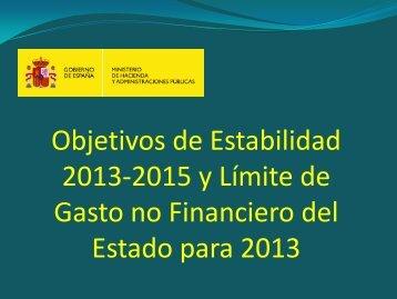Objetivos de estabilidad presupuestaria