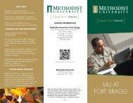 Programs Available on Fort Bragg - Methodist University