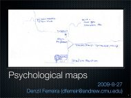 Psychological maps