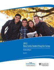 Student Drug Use Survey Report - Government of Nova Scotia