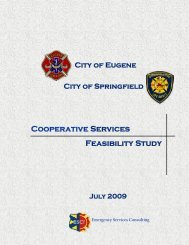 Cooperative Services Feasibility Study - City of Springfield