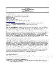 SPED 6690 Consultation and Collaboration Spring 2011 Syllabus ...