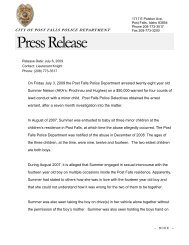 Press Release - Post Falls Police