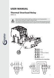 USER MANUAL CR09-32 Thermal Overload Relay - Crompton ...