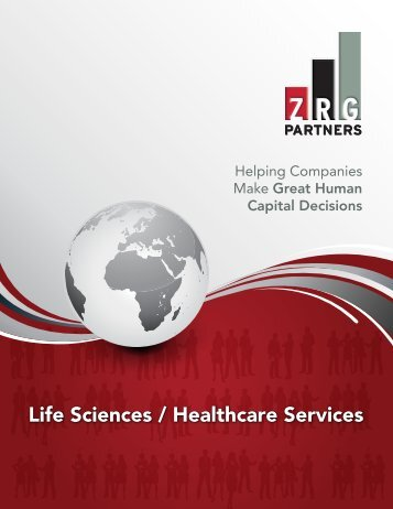 Life Sciences and Healthcare Services Brochure - ZRG Partners