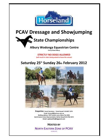 PCAV Dressage and Showjumping - Pony Club Association of Victoria