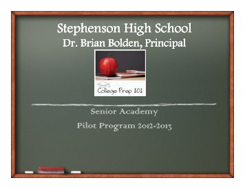 Stephenson High School Mission Statement - DeKalb County Schools
