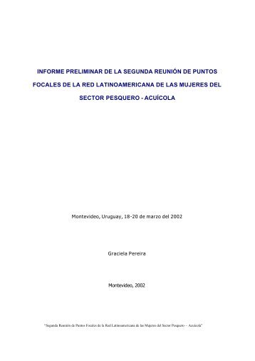 Documento - Red Latinoamericana de las Mujeres del Sector ...
