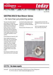 GESTRA DISCO Non-Return Valves – for more than just protecting ...