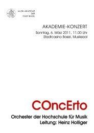 Heinz Holliger - Musik-Akademie Basel