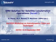 GMV Solution for Satellite Constellation Operations - ESA