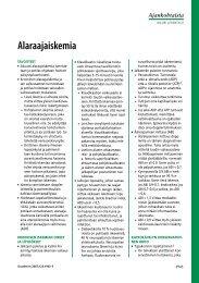 Alaraajaiskemia - Terveyskirjasto