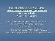 NYACP Near Miss Reporting Project - Iroquois Healthcare Alliance