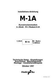 M-1 Modem/V.24 Technische Daten - Hedin Tex GmbH