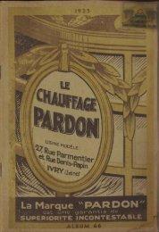 Le chauffage PARDON, catalogue 1935 - Ultimheat