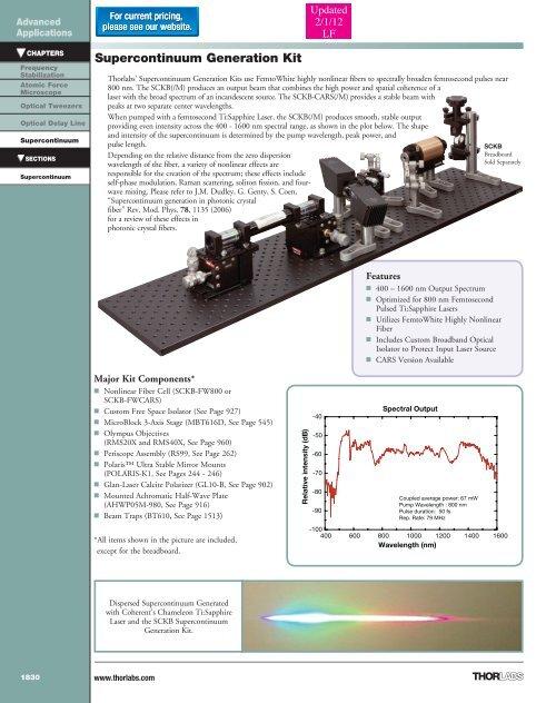 Catalog Page - Thorlabs