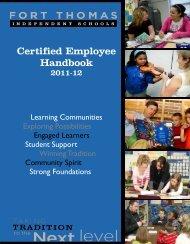 Certified Employee Handbook - Fort Thomas Independent Schools