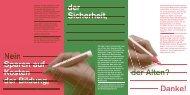 Flyer gegen das Sparpaket - Grüne Luzern