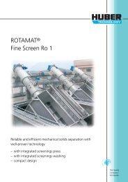 ROTAMAT® Fine Screen Ro 1 - brochure english