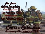 2011 Course Calendar - 10-22-10.pub - New Mexico Public ...