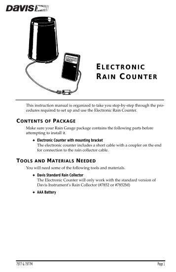 vantage vue wireless console manual davis instruments corp rh yumpu com Compass Instrument Davis Instruments WeatherLink